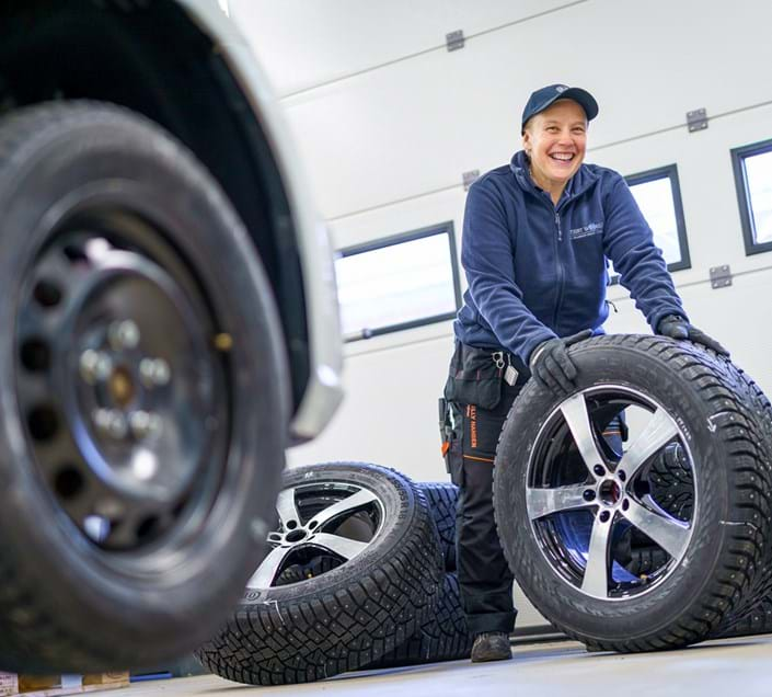 Indoor winter tyre testing facility engineer at Test World, Finland