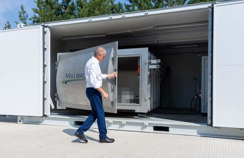 Engineer conducting battery safety testing using Battery Altitude Chamber