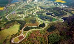 Aerial view of Millbrook Proving Ground test tracks