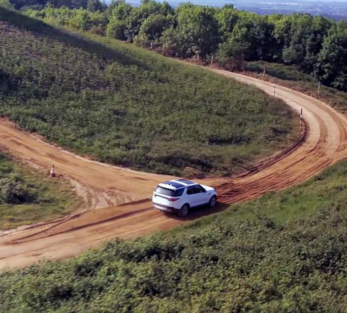 Off-road driving vehicle crash sensor immunity test at Millbrook Proving Ground