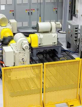 Electric powertrain systems dynamometer test facility at Millbrook in Leyland, UK used to provide electric motor dynamometer testing services