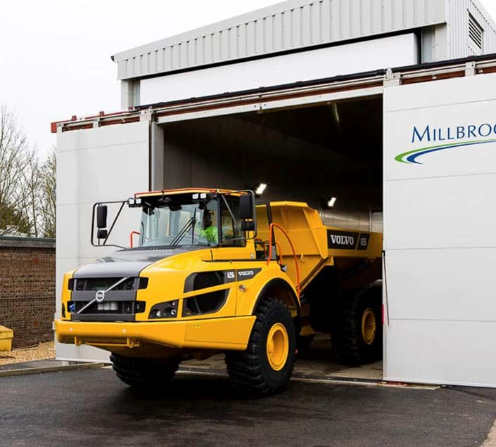 Vehicle environmental testing in a large climatic chamber at Millbrook Proving Ground