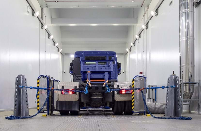 Variable Temperature Emissions Chamber commissioning, truck testing at Millbrook