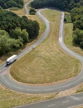 Truck on the Hill Route (aka the alpine circuit) at Millbrook Proving Ground