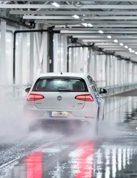 Wet braking at indoor winter tyre test facility in Finland - Test World