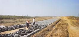 Millbrook Proving Ground Belgian Pave under construction in 1960s - 1970s