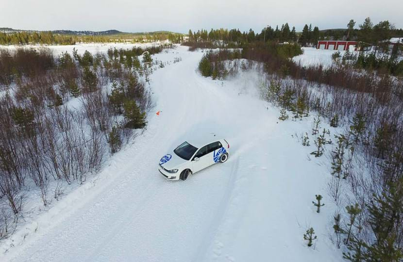 Winter proving ground snow driving experience at Test World, Ivalo, Finland
