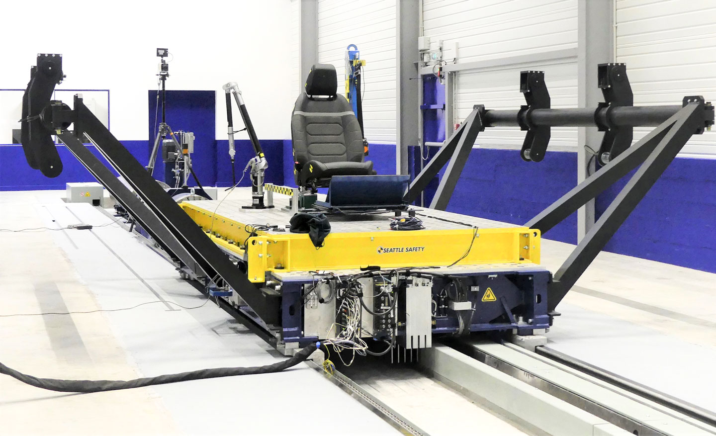 Sled test facility in France, used for Euro NCAP protocols