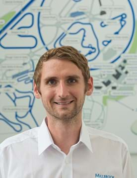 Portrait of Chris Polmear, Principal Engineer, Connected and Autonomous Vehicles at Millbrook
