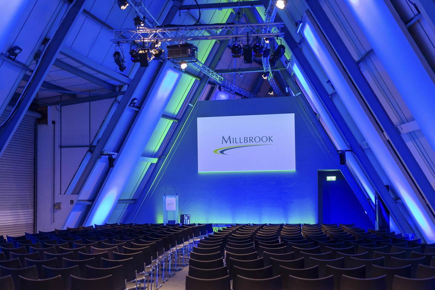 Conference venue at Millbrook Proving Ground near Milton Keynes for 100 to 300 delegates