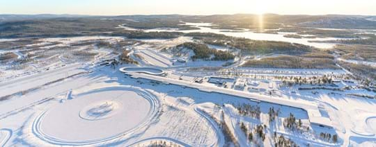 Winter Tyre Proving Ground Test World Ivalo Finland