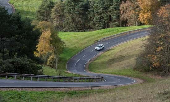 Vehicle homologation testing on Millbrook Hill Route