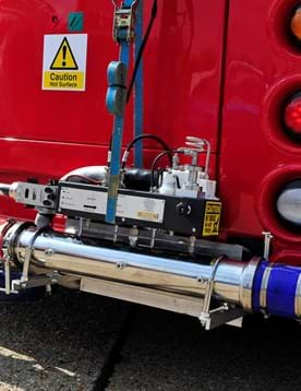 Bus emissions test cycle on a London bus fitted with PEMS test equipment