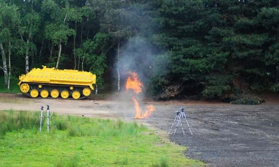 Blast testing at Millbrook Proving Ground