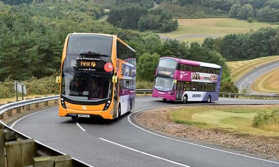 Bus test at Millbrook Proving Ground