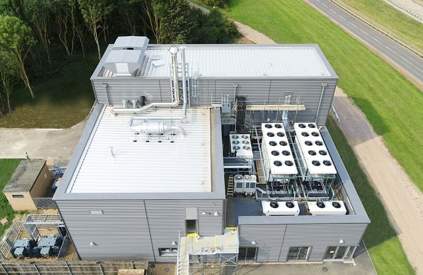 Aerial image of new 4WD Variable Temperature Emissions Chamber (VTEC) at Millbrook