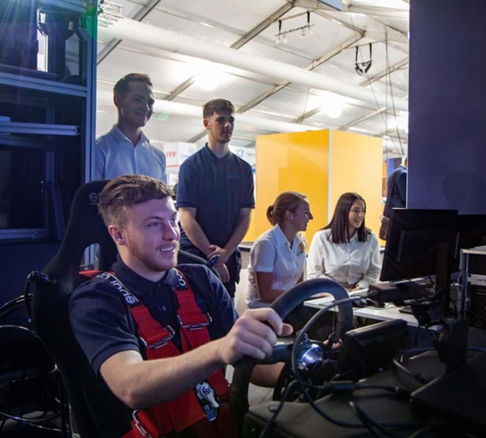 Millbrook graduate scheme employees and apprentices using Virtual Proving Ground Simulator